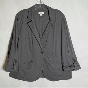 CATO casual rolled sleeve blazer gray size 18/20W